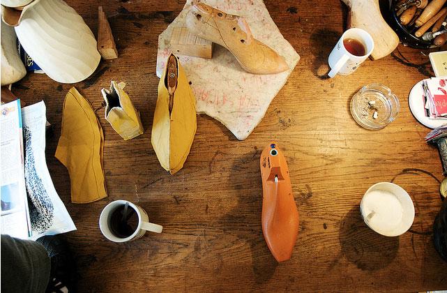 tavolo del modellista calzature